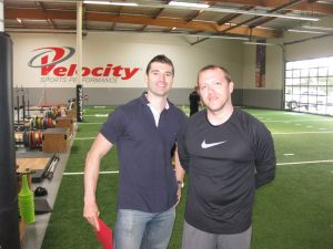 Joey Hayes and Coach Ken Vick of Velocity Sports Performance California!