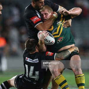 Ben Hannant playing for Australia