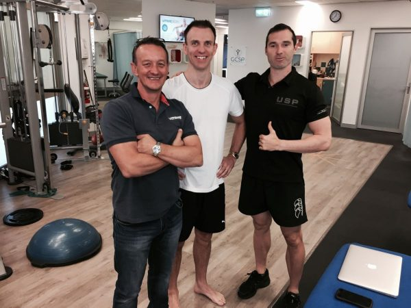 Joey and Victor taking one of our interstate clients through his NET FN and Physio Assessment.