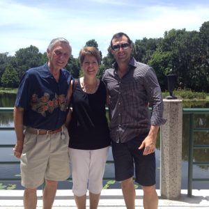 Joey with Sam and Betty Queen in Celebration Florida